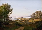 Andreas Juuel - View of the Hill at Skanderborg Castle, Jutland, and the Memorial to frederik VI - KMS515 - Statens Museum for Kunst.jpg