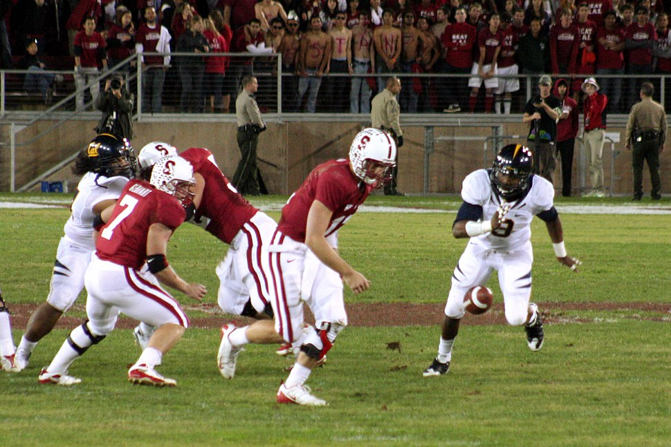 Andrew Luck fumbles at 2009 Big Game