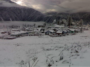 Anini - Anini in winter, with snowfall