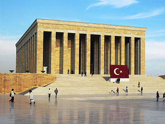 Turkish nationalism - Anıtkabir in Ankara, the mausoleum for Mustafa Kemal Atatürk, leader of the Turkish War of Independence and founder of the Republic of Turkey.
