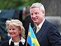 Anna Maria Corazza Bildt och Carl Bildt under nationaldagsfirande vid Skansen 2009.jpg