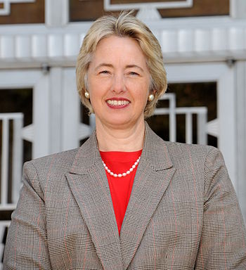 English: Annise Parker, Houston Mayor. Español...