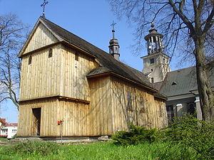 Annopol - Image: Annopol, kościół drewniany