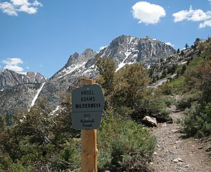 The Wilderness Society (United States) - Ansel Adams Wilderness sign Rush Creek