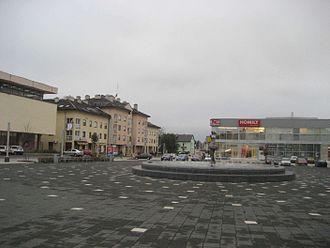 Gospić - Image: Ante Starcevic Platz in Gospic