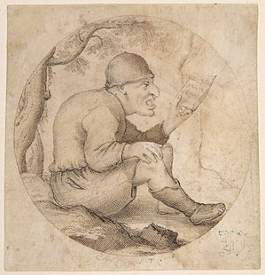 Anthonie Crussens - Image: Anthonie Crussens Seated Old Man Facing Right, Singing and Holding Music