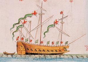 English ship Antelope (1546) - Image: Anthony Roll 24 Antelope