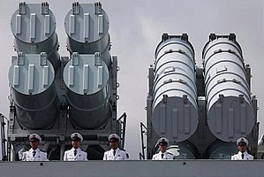 Type 052C destroyer - Anti-ship missile launchers on CNS Haikou (171)
