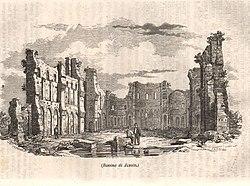 Resti della cattedrale nel 1853 circa.