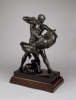 Antoine-Louis Barye - Theseus and the Minotaur (Second Version) - Walters 2764 - Profile