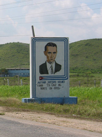 Antonio Guiteras - Roadside monument to Antonio Guiteras Holmes, outside of Havana, Cuba