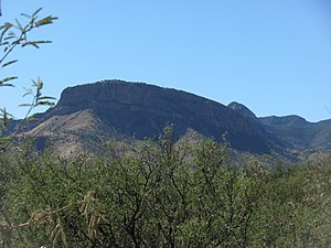 Madrean Sky Islands - Apache Peak in the Whetstone Mountains, as seen from the Kartchner Caverns State Park
