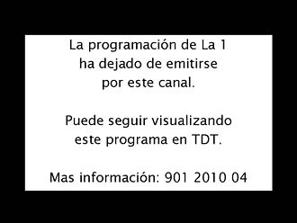Digital television transition - Analog closedown warning broadcast in Spain