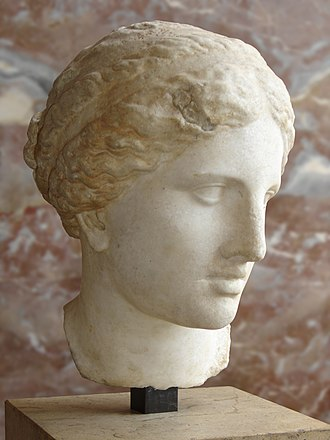 Aphrodite of Knidos - The Kaufmann Head in the Musée du Louvre