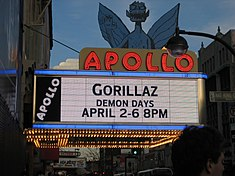 Updated Apollo Theater marquee, c. 2006