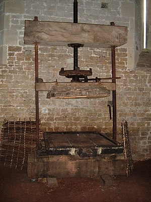 Apple Press for cider making at the Somerset R...