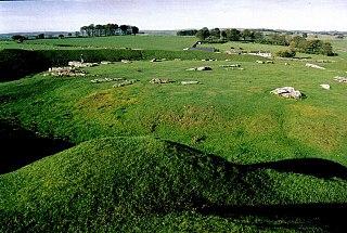 Arbor Low Neolithic henge monument in Derbyshire, UK