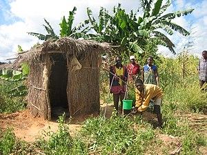 Arborloo - Arborloo in Ekwendeni, Malawi