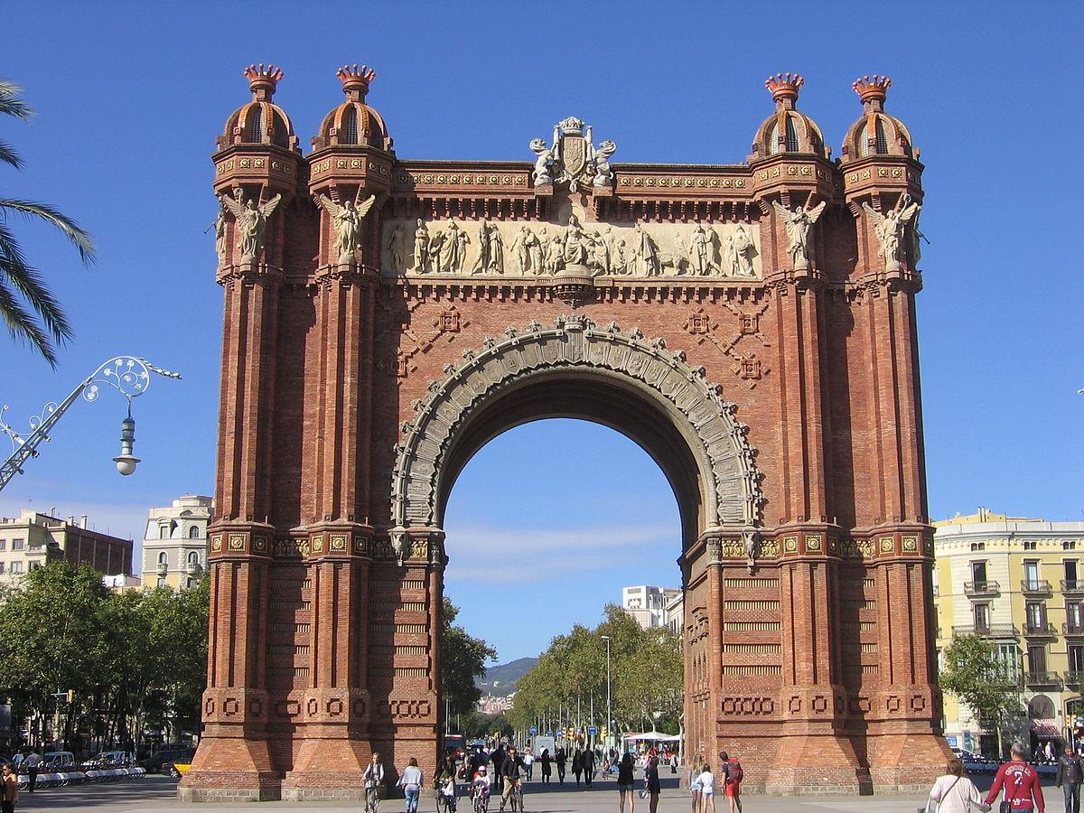 Arco de triunfo de barcelona wikipedia la enciclopedia for Como ir de barcelona a francia