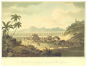 Lapa, Rio de Janeiro - The Aqueduct, and settlement in 1792