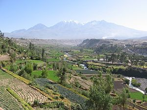 Arequipa Province - Chachani as seen from Carmen Alto, Arequipa Province