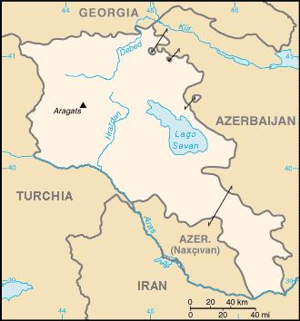 Armenia locator map ITA