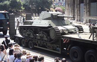 Carro Armato P 40 - Surviving P26/40 during Army parade of Italy in 2011