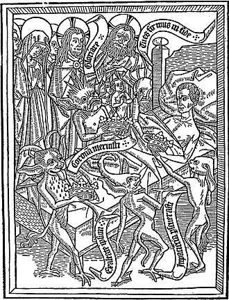 Block book - Ars Moriendi, Netherlands, c. 1460