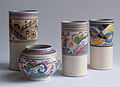 Art Deco Poole Pottery with Truda Carter patterns.JPG