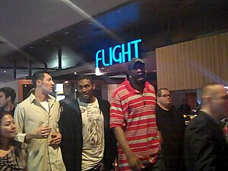 2009–10 Los Angeles Lakers season - The Los Angeles Lakers (Artest and Mbenga pictured) at the Luxor Las Vegas after a pre-season game.