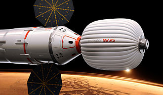 Inspiration Mars Foundation - Artist's Concept of Inspiration Mars Capsule and Hab.