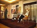 """Artur Mas, Josep Antoni Duran Lleida i Pilar Rahola, a Madrid a la presentació de la versió en castellà de """"La màscara del rei Artur"""".jpg"""