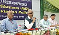 Ashok Gajapathi Raju Pusapati addressing a Press Conference on the release of the Draft Civil Aviation Policy for consultation with public and stakeholders, in New Delhi on November 10, 2014.jpg