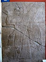 Assyrian relief with mythological beast Vorderasiatisches Museum Berlin.jpg