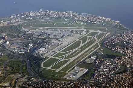 Istanbul Ataturk Airport is the 11th busiest airport in the world. Ataturk Airport Karakas-1.jpg