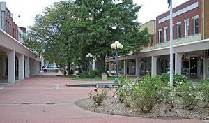 Atchison, Kansas - Pedestrian mall on Commercial Street in downtown Atchison (2006)