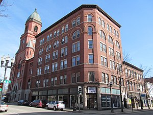 National Register of Historic Places listings in Androscoggin County, Maine - Image: Atkinson Building, Lewiston ME