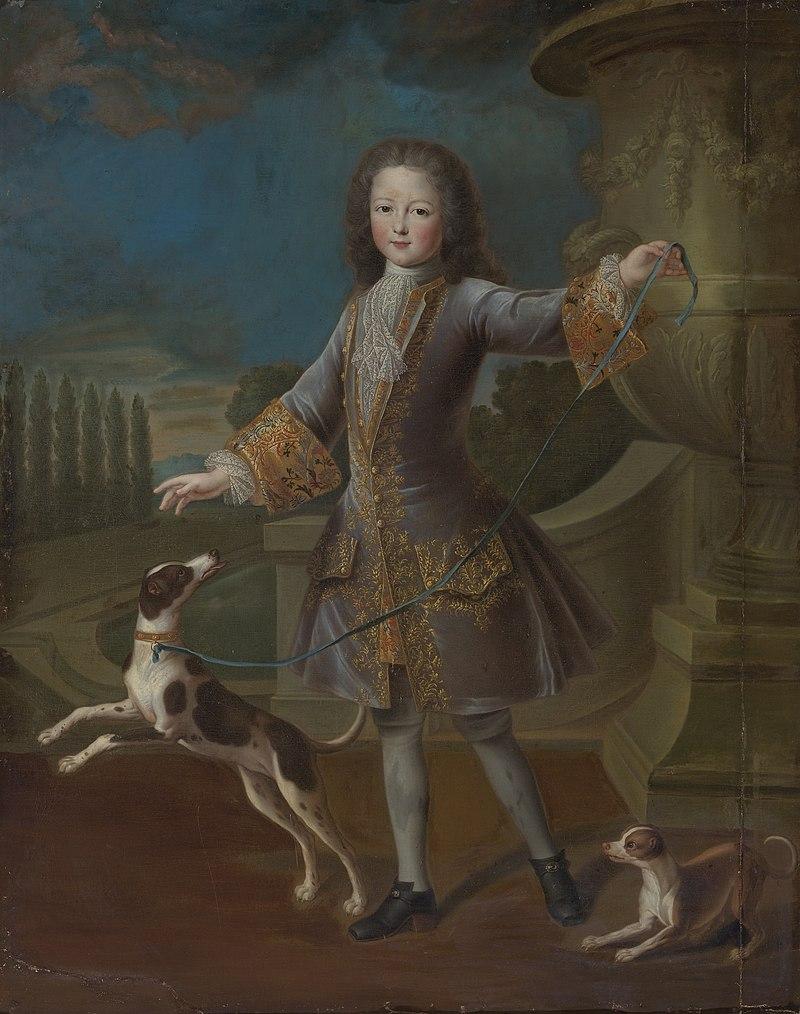 Введите свойства. в Пьер Гобер - портрет Людовика ХV авэк-де-ДЕЗ chiens.jpg