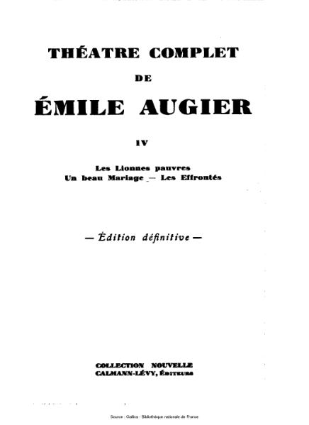 File:Augier - Théatre complet, tome 4.djvu