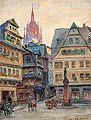 August Croisant Straßenszene in Frankfurt.jpg