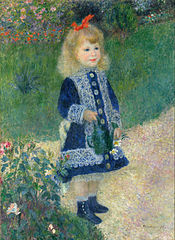 A Girl with a Watering Can - Pierre-Auguste Renoir, 1876