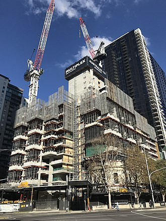 Australia 108 - The construction site in May 2017.