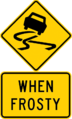 Australian Slippery Road Surface (Frost) sign.png