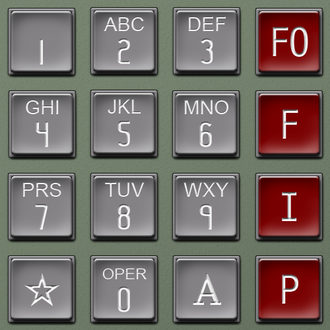 Silver box - A diagram of an Autovon telephone keypad with the four precedence levels