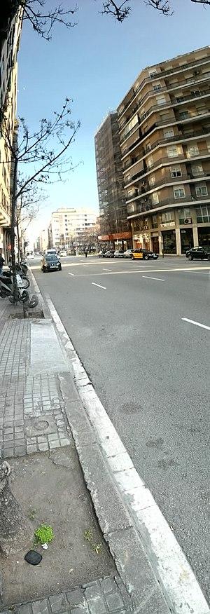 Les Corts (district) - Avinguda de Sarrià in Les Corts
