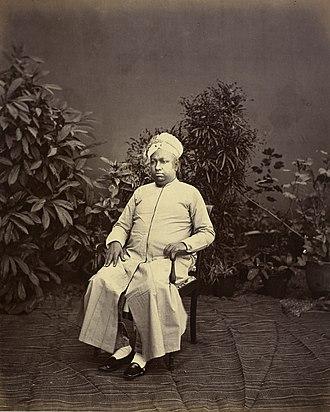 Ayilyam Thirunal - The Maharaja circa 1875