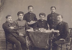 Gazanfar Musabekov - Musabekov (left) while he was studying in Kiev.