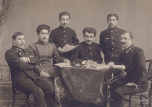 Musabekov (left) while he was studying in Kiev.