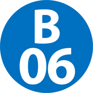 Totsuka Station - Image: B 06 station number