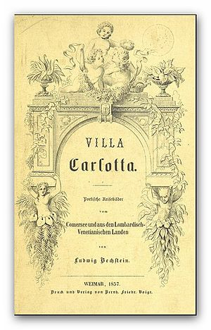 Ludwig Bechstein - Cover of Villa Carlotta. Poetische Reisebilder vom Comersee und aus den lombardisch-venetianischen Landen, by Bechstein (1857)